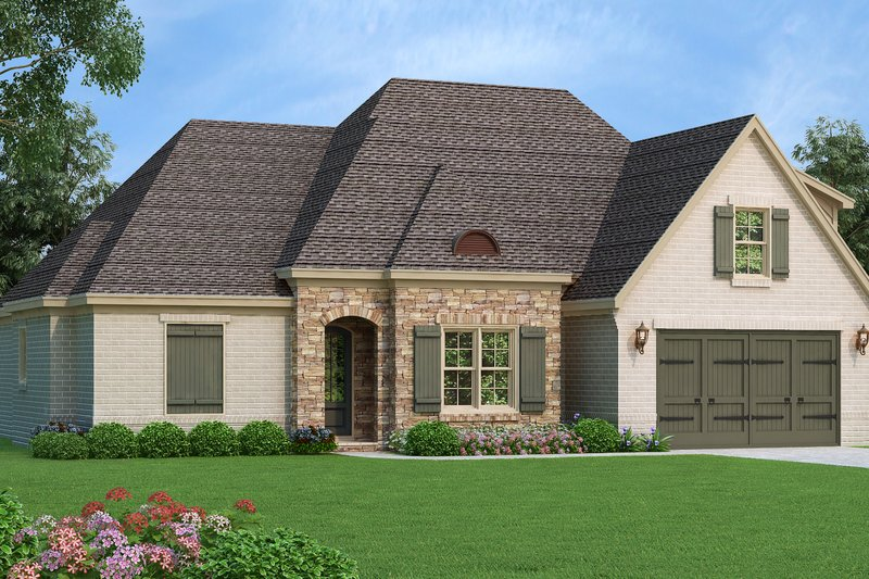 House Plan Design - Country Exterior - Front Elevation Plan #932-102