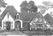 Architectural House Design - European Exterior - Front Elevation Plan #301-115