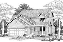 Home Plan - Farmhouse Exterior - Front Elevation Plan #70-579