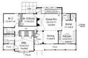 Country Style House Plan - 3 Beds 2 Baths 1676 Sq/Ft Plan #57-692 Floor Plan - Main Floor