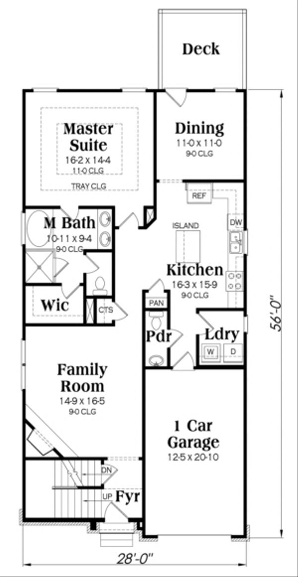 Traditional Floor Plan - Main Floor Plan Plan #419-250
