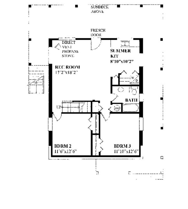 Cottage Floor Plan - Lower Floor Plan Plan #118-134