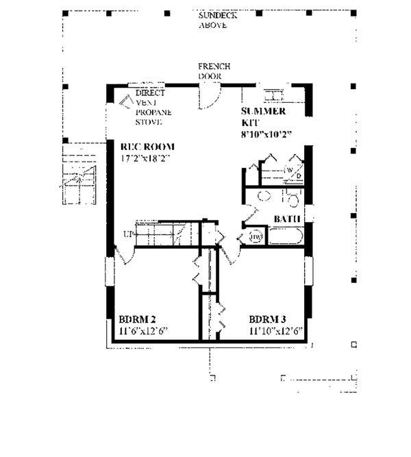 Cottage Floor Plan - Lower Floor Plan #118-134