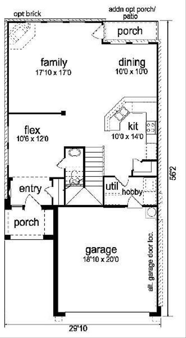 Cottage Floor Plan - Main Floor Plan #84-271