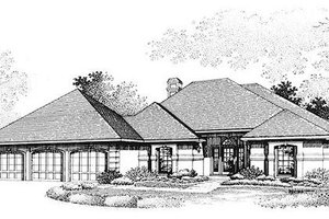 European Exterior - Front Elevation Plan #320-388