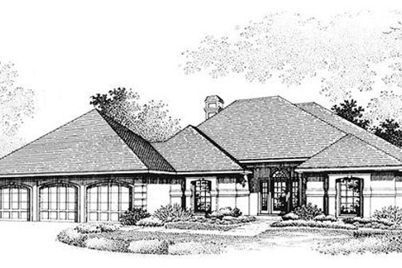 Home Plan - European Exterior - Front Elevation Plan #320-388