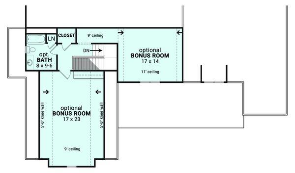 Architectural House Design - Farmhouse Floor Plan - Upper Floor Plan #119-436