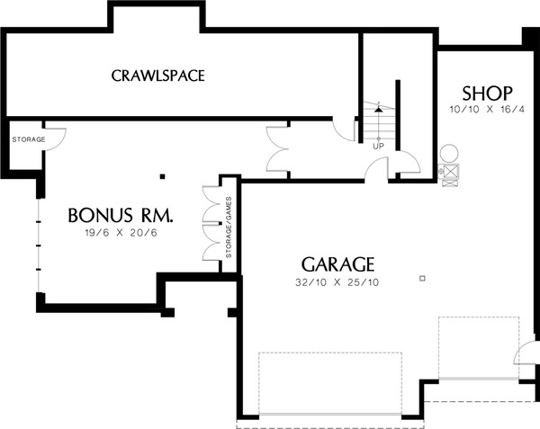 Mediterranean Floor Plan - Lower Floor Plan Plan #48-232