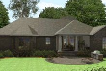 Southern Exterior - Rear Elevation Plan #406-300