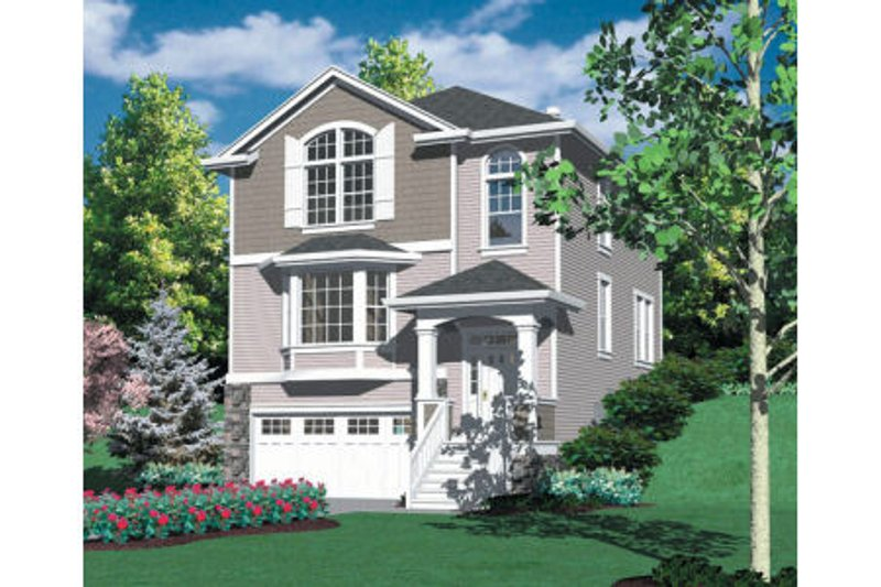 Traditional Exterior - Front Elevation Plan #48-318