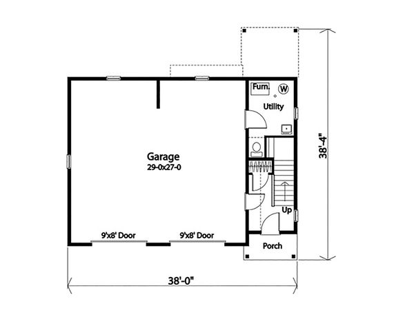 House Design - Country Floor Plan - Main Floor Plan #22-610