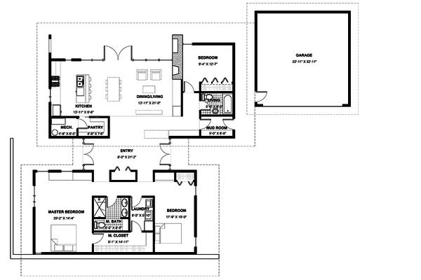 Modern Floor Plan - Main Floor Plan Plan #498-4