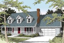 Home Plan - Colonial Exterior - Front Elevation Plan #100-225