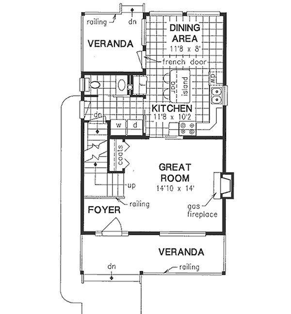 Farmhouse Floor Plan - Main Floor Plan Plan #18-280
