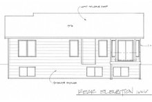House Plan Design - Ranch Exterior - Rear Elevation Plan #58-202