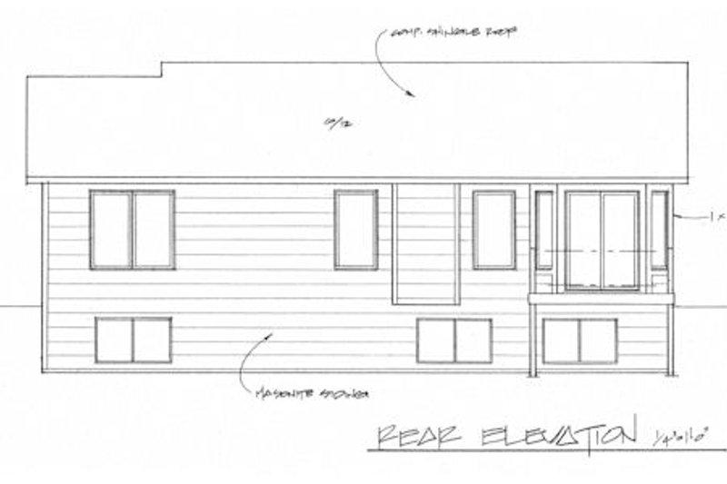 Ranch Exterior - Rear Elevation Plan #58-202 - Houseplans.com