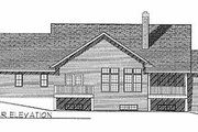 Traditional Style House Plan - 3 Beds 2.5 Baths 2034 Sq/Ft Plan #70-286 Exterior - Rear Elevation