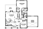 Ranch Style House Plan - 2 Beds 2 Baths 1497 Sq/Ft Plan #126-195 Floor Plan - Main Floor