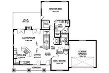 Ranch Floor Plan - Main Floor Plan Plan #126-195