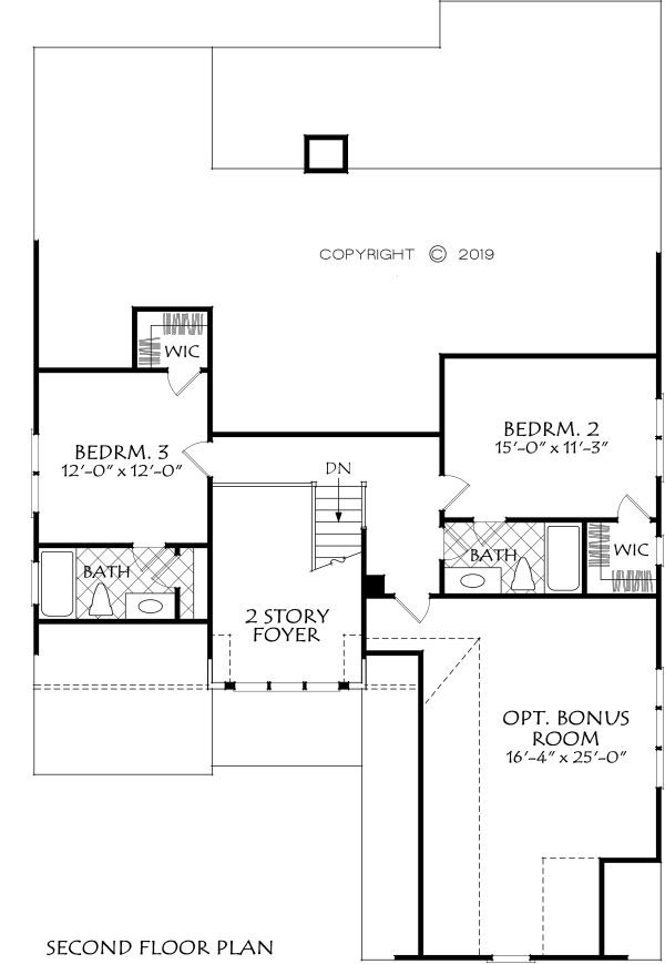 Home Plan - Farmhouse Floor Plan - Upper Floor Plan #927-1002