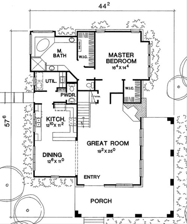 Country Style House Plan - 3 Beds 2.5 Baths 2016 Sq/Ft Plan #472-10 Floor Plan - Main Floor Plan