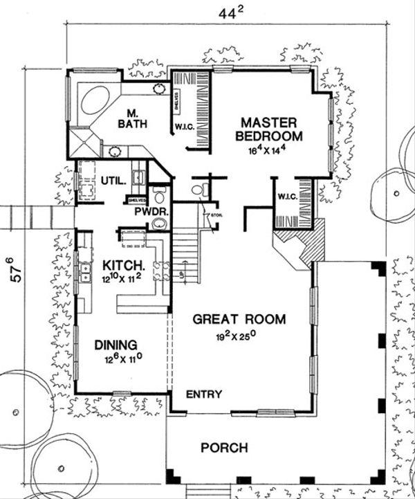 Country Floor Plan - Main Floor Plan Plan #472-10