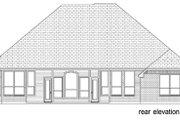 European Style House Plan - 3 Beds 2 Baths 2695 Sq/Ft Plan #84-572 Exterior - Rear Elevation