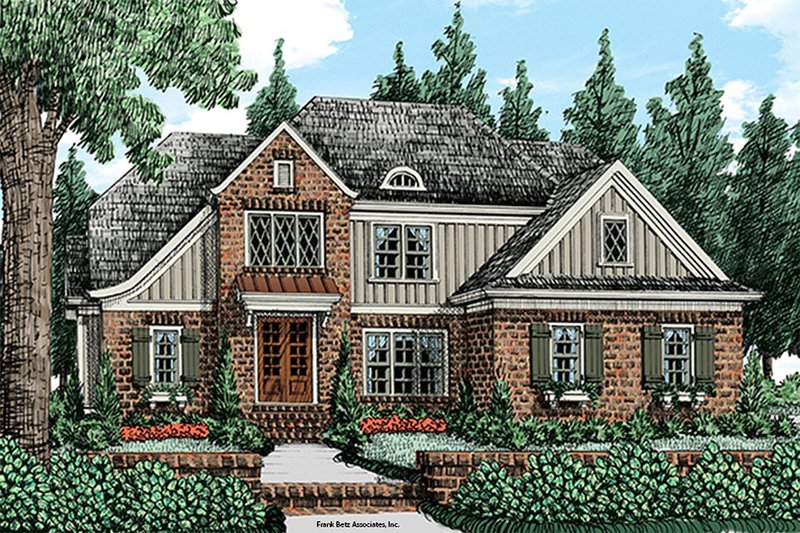 Cottage Exterior - Front Elevation Plan #927-14