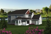 Traditional Style House Plan - 5 Beds 3.5 Baths 3160 Sq/Ft Plan #70-1088 Exterior - Other Elevation