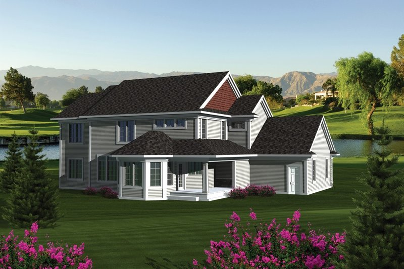 Dream House Plan - Traditional Exterior - Other Elevation Plan #70-1088