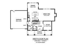 Traditional Floor Plan - Main Floor Plan Plan #1010-229