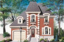 Home Plan Design - European Exterior - Front Elevation Plan #23-205