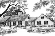 Colonial Exterior - Front Elevation Plan #72-349