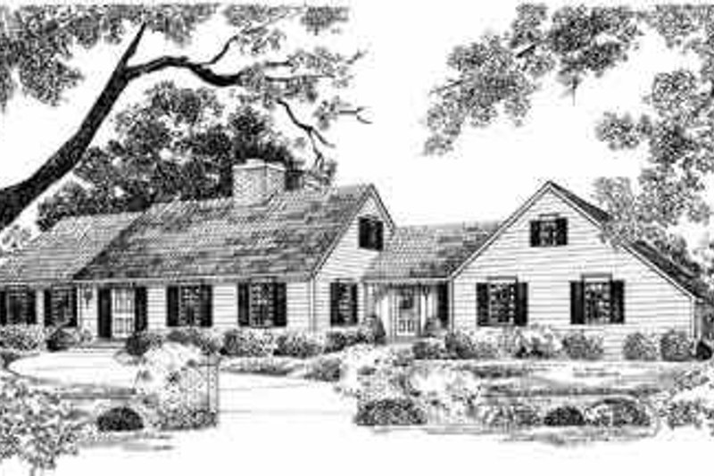 House Blueprint - Colonial Exterior - Front Elevation Plan #72-349