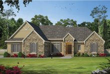 Dream House Plan - Craftsman Exterior - Front Elevation Plan #20-2131