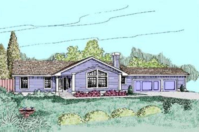 Bungalow Exterior - Front Elevation Plan #60-387