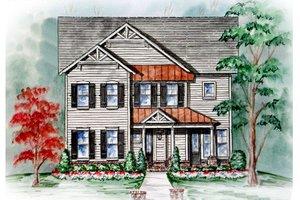 Cottage Exterior - Front Elevation Plan #54-117