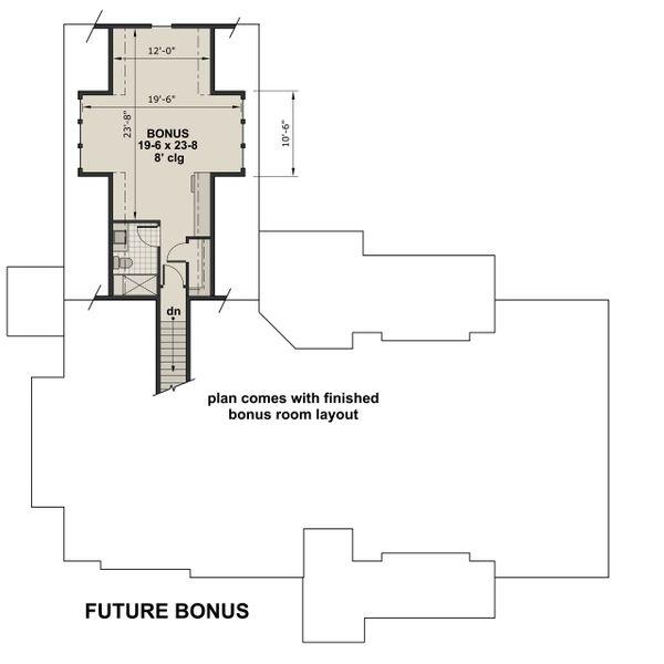 Farmhouse Floor Plan - Upper Floor Plan #51-1137