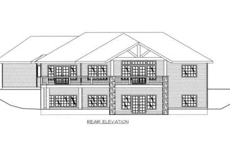 Country Exterior - Rear Elevation Plan #117-572 - Houseplans.com