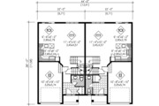 Traditional Style House Plan - 2 Beds 1.5 Baths 2520 Sq/Ft Plan #25-4253 Floor Plan - Main Floor Plan