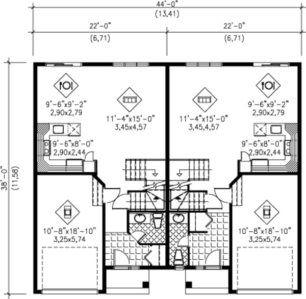 Traditional Floor Plan - Main Floor Plan Plan #25-4253
