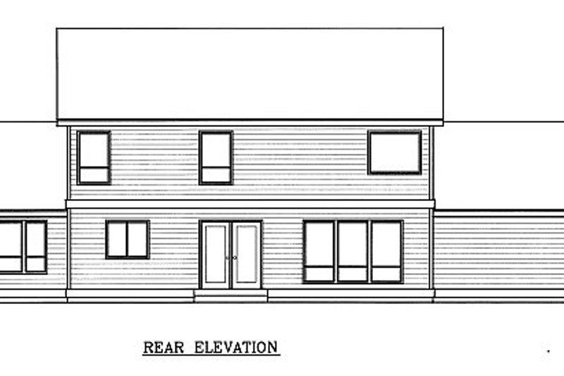 Farmhouse Exterior - Rear Elevation Plan #100-202 - Houseplans.com