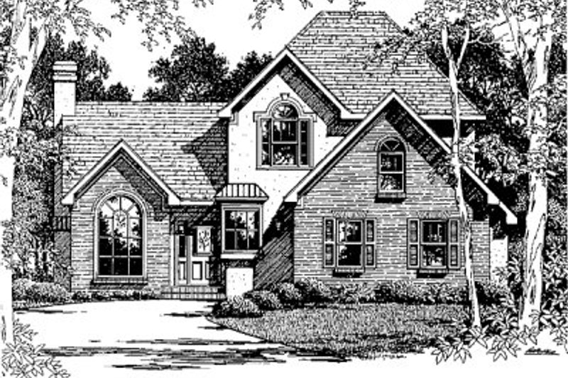 European Exterior - Front Elevation Plan #41-140