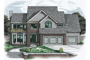 Traditional Exterior - Front Elevation Plan #20-2024