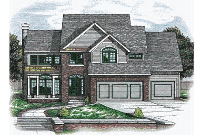 Traditional Exterior - Front Elevation Plan #20-2024 - Houseplans.com