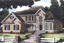 Dream House Plan - Traditional Exterior - Front Elevation Plan #927-29