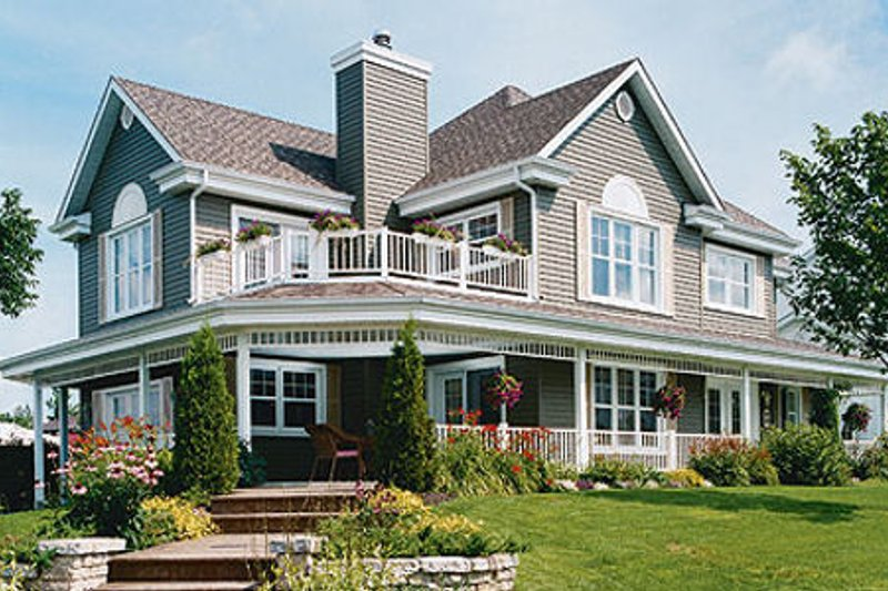 Architectural House Design - Country Exterior - Front Elevation Plan #23-286