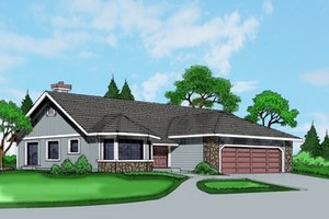 Exterior - Front Elevation Plan #515-31