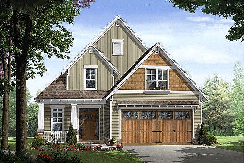 Craftsman Exterior - Front Elevation Plan #21-254