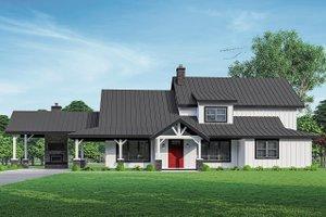 Farmhouse Exterior - Front Elevation Plan #124-1253